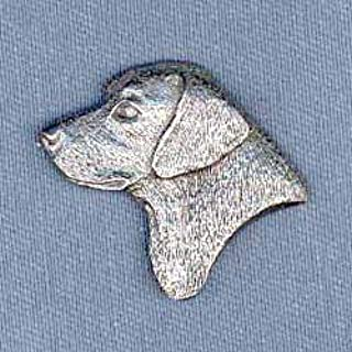Black Lab Pewter Lapel Pin Brooch - USA Made - Hand Crafted