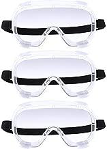 Safety Goggles Eye Protection Adjustable Splash Impact Eyewear (Transparent)