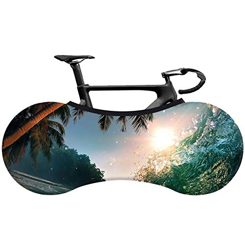KJRJA Cubierta Antipolvo para Bicicleta Tejido Elástico Bicicleta de Carretera Cubierta Antipolvo para Bicicleta de Interior 26-29 Pulgadas Accesorios para Bicicletas,A