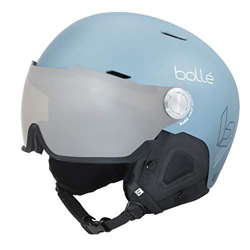 bollé Might Visor Casques de Ski Adulte Unisexe 52-55 cm, Storm Blue Matte, Small