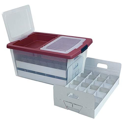 Quality-Collection TOP-Box Edition Aufbewahrungsbox für Weihnachtskugeln, Christbaumschmuck
