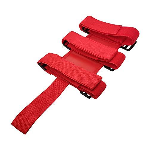 Centeraly Feuerlöscher Gurt LKW Befestigung Auto Wasserflasche Lagerung Verstellbarer Halter Stabiler Rutschfester dehnbarer Bus Tight Base Nylon(Rot)