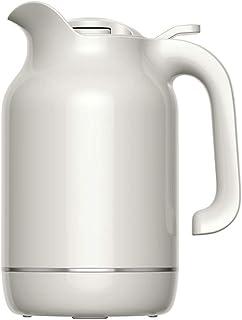 ZCXBHD ガラスライナープレス断熱ポット家庭用真空ポット - 温度計密封コーヒーとティーポット1.5 L (色 : 白)