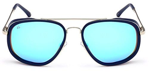 PRIV REVAUX Women's Explorer Handcrafted Designer Rider Polarized Sunglasses For, Midnight Navy/Blue Mirror, One Size