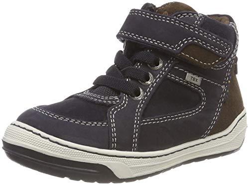 Lurchi Jungen Barney-TEX Hohe Sneaker, Blau (Atlantic Brown 22), 31 EU
