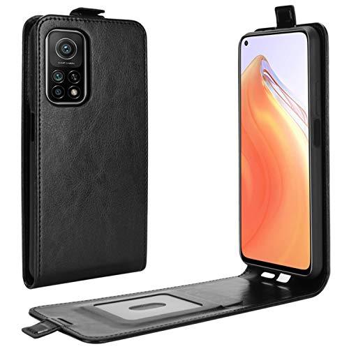 HualuBro Xiaomi Mi 10T Pro Hülle, Premium PU Leder Brieftasche Schutzhülle HandyHülle [Magnetic Closure] Handytasche Flip Hülle Cover für Xiaomi Mi 10T Pro 5G Tasche (Schwarz)