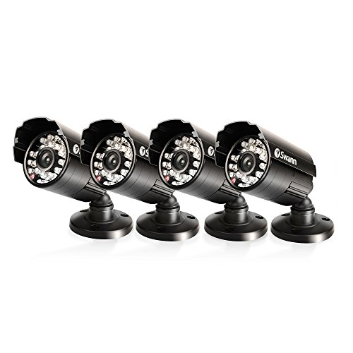 Swann Pro Security High Resolution Waterproof Day/Night Camera - Four Pack