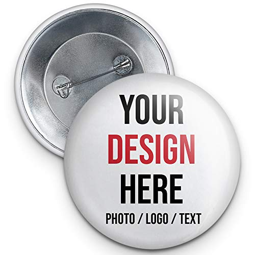 Custom Pins, Custom Buttons, Design Your Own Personalized Pinback Buttons (1, 2.25')