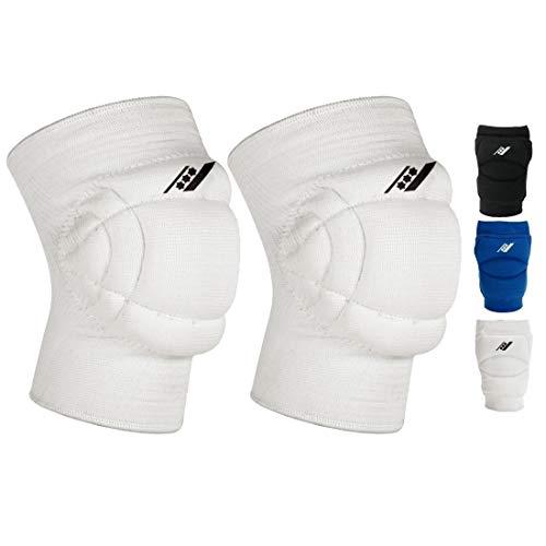 Rucanor Super Smash Knieschoner, 2 Stück Knieschutzer für Sport, Kniepolster mit Seitenaufprallsystem, Polyster, Unisex, XS, Weiß