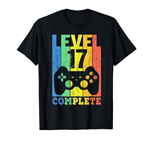 17 Años Cumpleaños Niño Niña Chico Chica Regalo Level 17 Camiseta