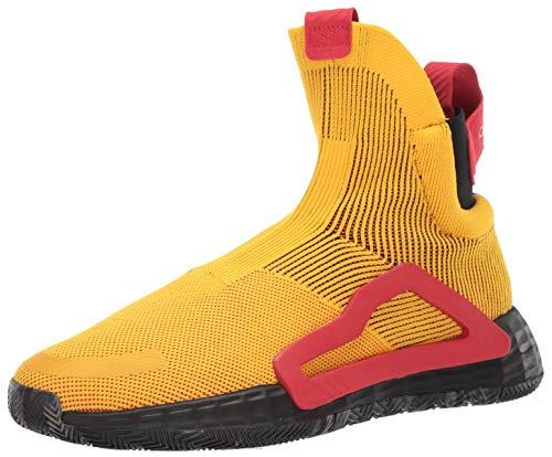 adidas Men's N3XT L3V3L Baseball Shoe, Bold Gold/Black/Scarlet, 9 Medium US