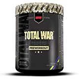 Redcon1 Total War - Pre Workout Powder, 50 Servings, Boost Energy, Increase Endurance and Focus, Beta-Alanine, 350mg Caffeine, Citrulline Malate, Nitric Oxide Booster - Keto Friendly (Sour Gummy Bear)