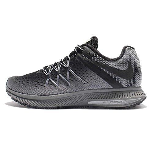 Nike Air Zoom Winflo 3 Shield Women's Running Shoes (11 B US, Black/Black/Cool Grey/Wolf Grey)