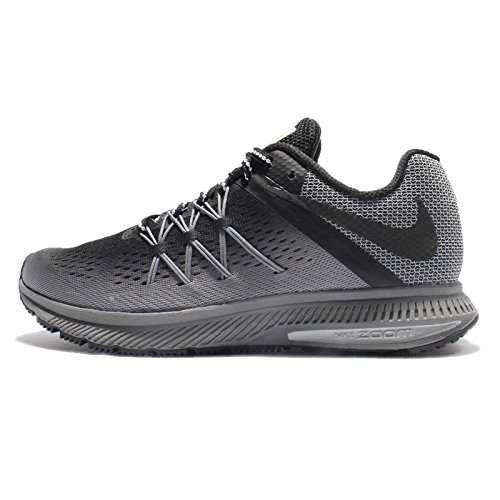 Nike Air Zoom Winflo 3 Shield Women's Running Shoes (11 B US, Black/Black/Cool Grey/Wolf Grey)