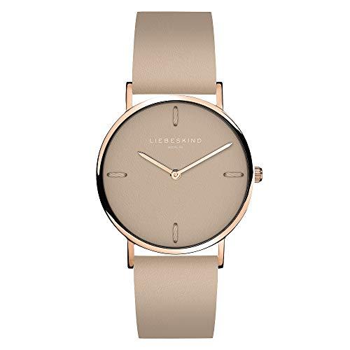 Liebeskind Berlin Damen Analog Quarz Uhr mit Leder Armband LT-0202-LQ