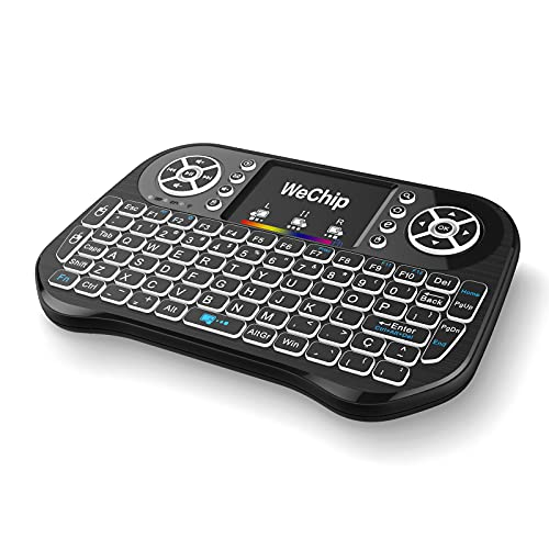 docooler Tastiera Wireless Wechip i10 2.4GHz Mini Tastiera Retroilluminata A 7 Colori con Touchpad Mouse Telecomando Portatile per Android TV Box Smart TV PC Notebook
