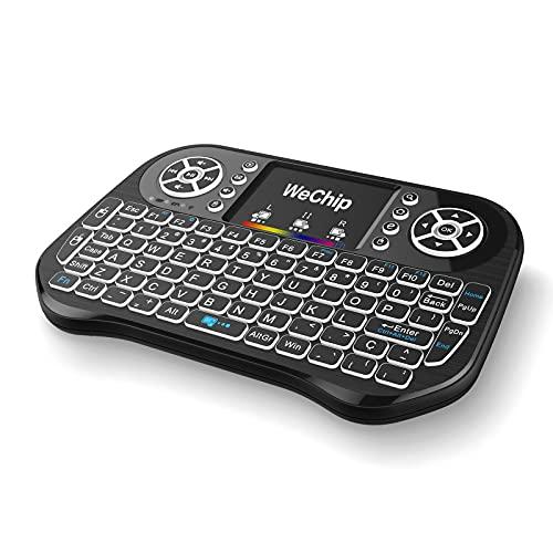 Docooler Control Remoto Teclado Inalámbrico con Ratón de 2.4GHz para el Cuaderno de la PC TV Smart TV de Android TV Box (i10)