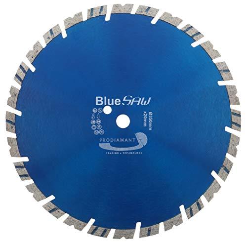 PRODIAMANT BlueSaw Premium Diamant Trennscheibe Beton, Granit, universal 350 mm x 20 mm 14mm Turbowechsel Segment