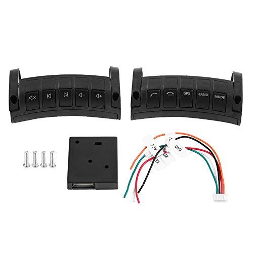 KIMISS Voiture télécommande sans Fil au Volant, ABS Multifonctions Navigation DVD clé de Commande à Distance (Une Paire)