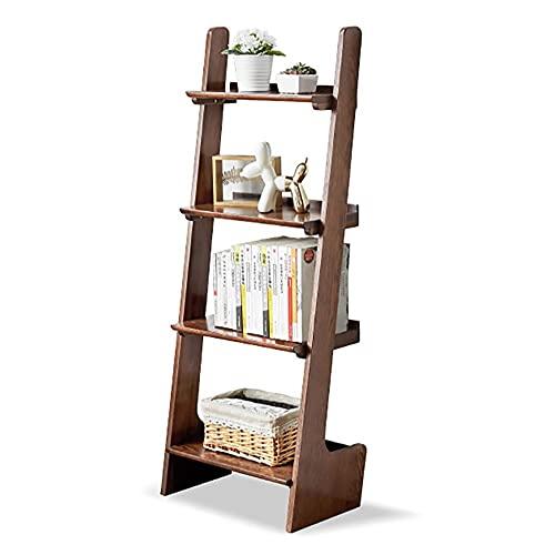 Estante organizador de escritorio para almacenamiento de escritorio, estantería de roble FAS, estantería de estantería, con esquinas redondeadas, diseño de bisel lateral