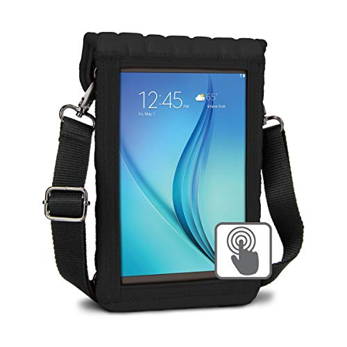 USA Gear 7 inch Tablet Carrying Bag Cover with Built-in Screen Protector - 7 to 8 inch Tablet Sleeve Carry Bag Fits Samsung Galaxy Tab S2 8
