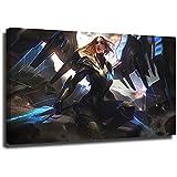 STTYE Póster de la Liga Legends - Lienzo decorativo para pared (61 x 91 cm), diseño de kayle aetherwing