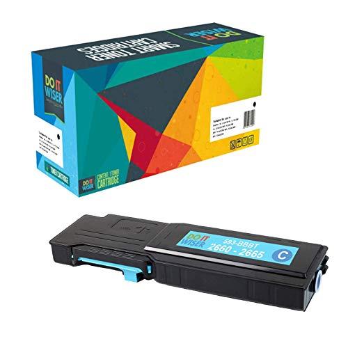 Do it Wiser Kompatible Toner als Ersatz für Dell C2665dnf C2660dn - 593-BBBT 488NH (Cyan 4.000 Seiten)