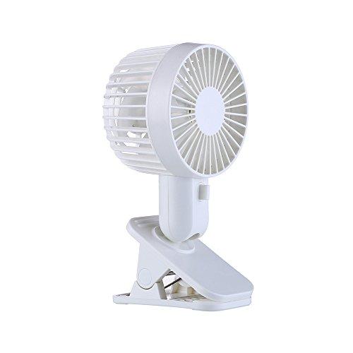 ZEELIYProtable Double Turn Blätter Fan Electric Fan USB Tischständer Fan 2-Speed Wind Geeignet für Tische, Kinderwagen, Schlafzimmer