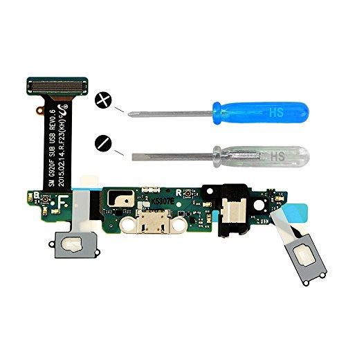 MMOBIEL Dock Connector kompatibel mit Samsung Galaxy S6 G920F Mikro Ladebuchse Lade Port Flexkabel Ladeport mit Werkzeug