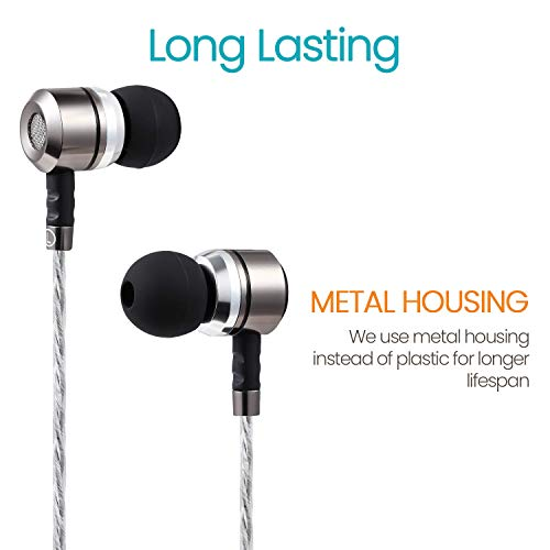 Sephia SP3060 Earbuds, Noise Isolating in Ear Headphones, Powerful Bass Sound, High Definition, Pure Audio, Earphones for iPhone, iPod, iPad, MP3 Players, Samsung Smartphones and Tablets 7