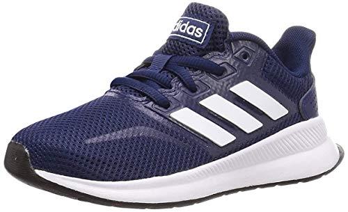 adidas Kinder Laufschuhe K EG2544 Runfalcon, Dark Blue FTWR White Core Black, 38 EU