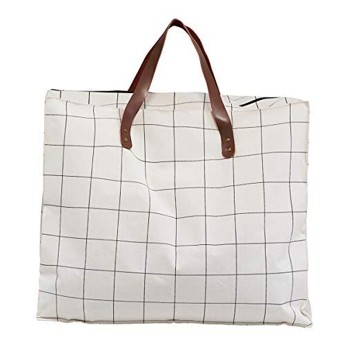 House Doctor Tasche / Aufbewahrung, Squares, Weiß, l: 58 cm, w: 32 cm, h: 48 cm