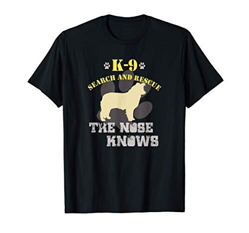 K9 Rettungshunde Border Collie Suchen und Retten Hund T-Shirt