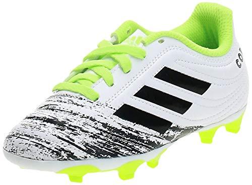 adidas Copa 20.4 FG J, Zapatillas de fútbol, FTWR White/Core Black/Signal Green, 38 2/3 EU