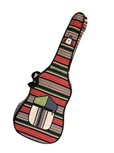 BeHemppy   100% Pure Hippy Hanf Guitar Case/mit Harte Abdeckung aus Nepal, Unisex (Mehrfarbig)