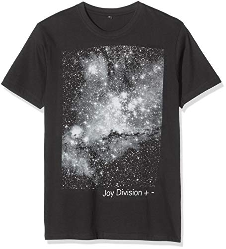 MERCHCODE Joy Division + -Tee T-Shirt, Black, S Uomo