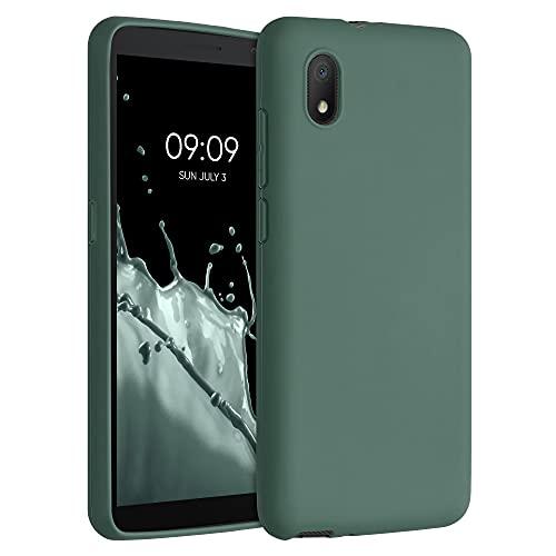 kwmobile Custodia Compatibile con Alcatel 1B (2020) - Cover in Silicone TPU - Back Case per Smartphone - Protezione Gommata Verde Blu