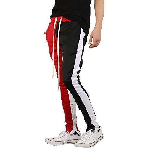 Pantalones Deportivos de Moda para Hombre Hip Hop Colorblocked Workout Training Sweatpant Stretch Skinny Slim-Fit Pencil Pantalones Large