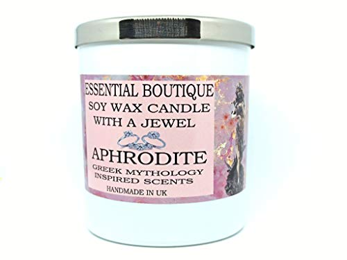 Candle with a jewel Inside Essential Boutique Candle -APHRODITE Greek Gods Scent