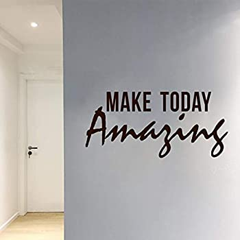 Delma PVC Wall Sticker Home Decoration Vinyl Decal Wall Art Inspirational Quote and Saying Home Decor Decal Sticker  Make Today Amazing