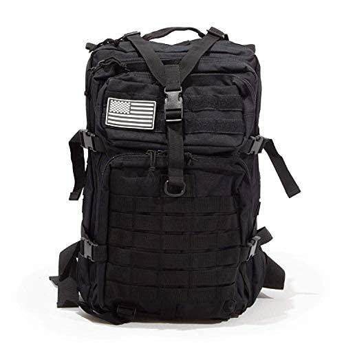Sirius Survival 50L Expeditionary Tactical Backpack - Large Molle Bag (Black)