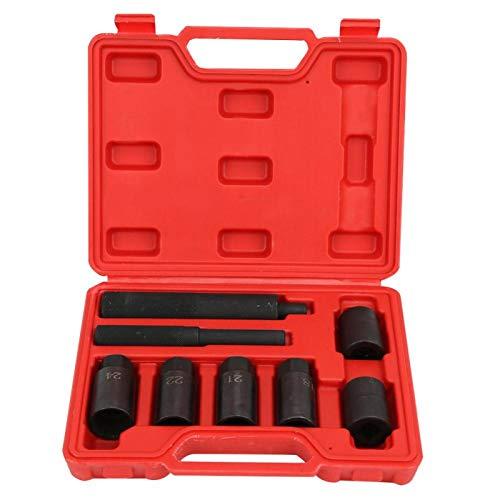 8 piezas de desmontaje de tornillo antirrobo manga-eliminación de enchufe de tornillo antirrobo llave de acero de alta dureza herramienta de mano para neumáticos de coche