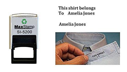 Trodat 4911personalisierbar Kleidung Marker Stoff Textil Gummi Stempel Schule Uniform nicht Do it yourself–bis zu 3Zeilen–37x 13mm