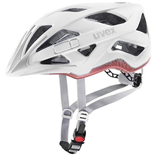 Uvex Unisex– Erwachsene, active cc Fahrradhelm, white mat, 52-57 cm