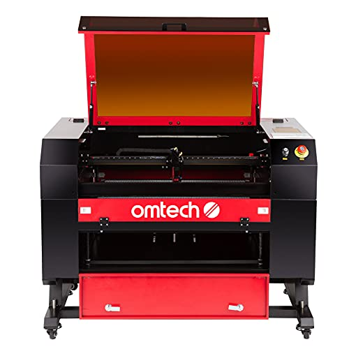 OMTech 60W CO2 Laser Engraver, 60W Laser Cutter Machine, 20x28 Laser Engraving Machine with Autolift Autofocus Air Assist 2 Way Pass RDWorks, Laser Cutting Machine for Wood Acrylic More(AF2028-60)