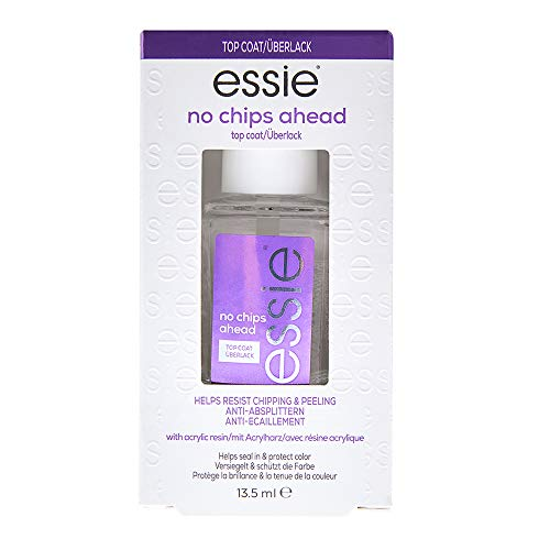 essie no chips ahead top coat, anti-chip + wear nail polish, 0.46 fl. oz. (Packaging May Vary)