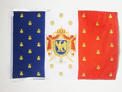 AZ FLAG Standard of Napoleon III of France Flag 18'' x 12'' Cords - Second French Empire Small Flags 30 x 45cm - Banner 18x12 in