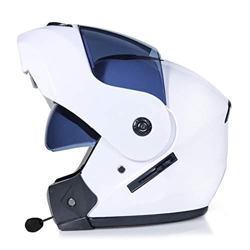 ABDOMINAL WHEEL Bluetooth Casco Moto,Casco Moto Modular ECE Homologado,Doble Visera Casco Moto...
