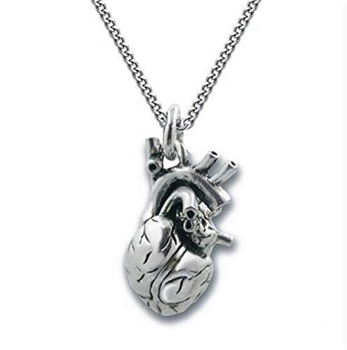 VAWAA Kuriositäten Anatomische Herzförmige Halskette Herz Anhänger Kette Schmuck
