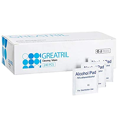 Greatril Cleaning Wipe, Individually Wrapped Disposable Wipes for Glasses, Computer, Mobile Phone, Digital Camera, Notebook by Greatril